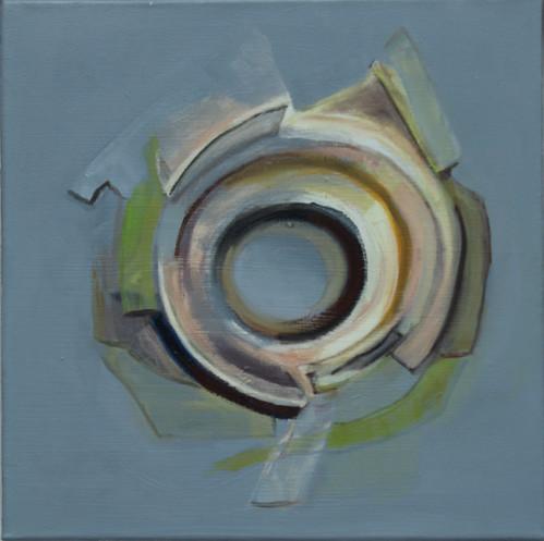 JUDYDEELEY20-Plantationocene #9 Oil on canvas_37 x 37 cm framed_2019