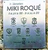 Miki Roqué commemorative plaque at the Parque del Pinell de Tremp, Catalonia