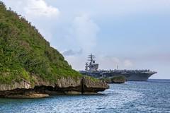 USS Nimitz (CVN 68) enters Apra Harbor, Guam.