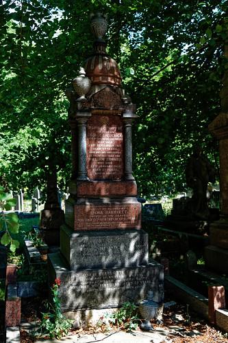 City of London Cemetery George Frederick, Emma Harriett, William Elliott, Charlotte Smith monument 1