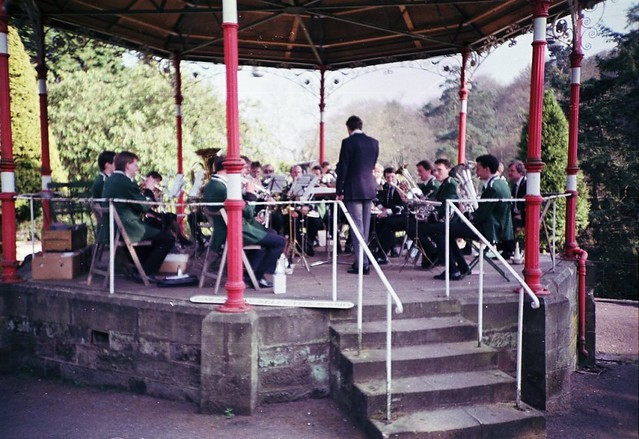Performance in the Bandstand during the late 80s