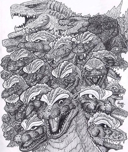Godzilla tribute 1954-2019