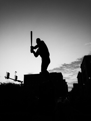 Baseball legend silhouette