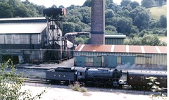 Photo of 5197 USATC Class S160 2-6-0 passes the Copper Works