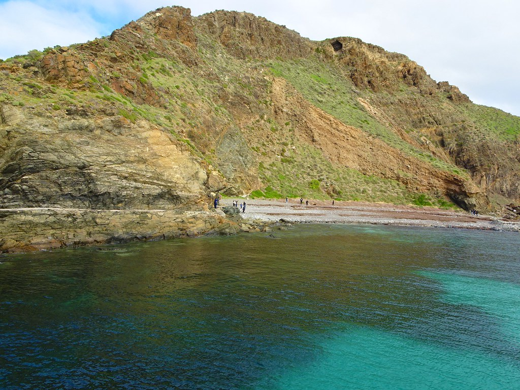 Second Valley on the Fleurieu Peninsula. Rocky beach at the foot of the cliffs.