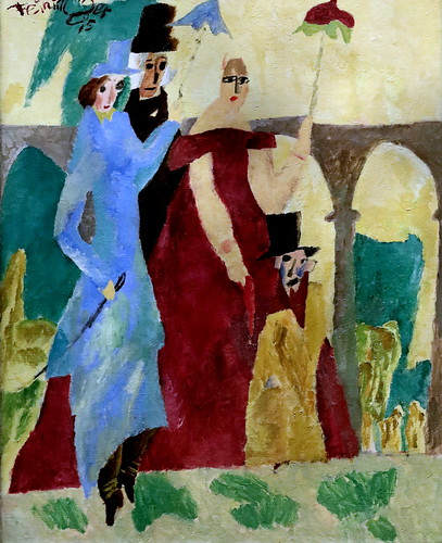 IMG_6597 Lyonel Feininger 1871-1956 Berlin New-York  Promenade in Arcueil 1915 Musée Wien   Albertina