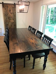 Stained hemlock table final june 2020