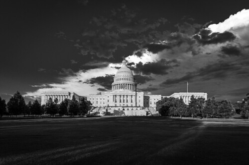 US Capitol on a Stormy Evening