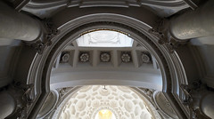 Borromini, San Carlino, looking up over entry