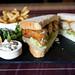 Fish finger sandwich at The Fox Inn public house at Finchingfield, Essex, England