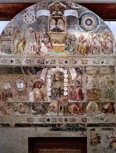 IMG_9472H Serafino de'Serafini  actif à Modena et Ferrara 1349-1393 Allegoria di Sant'Agostino come Maestro dell'Ordine  Allegory of St. Augustine as Master of the Order 1378 Ferrara Pinacoteca Nazionale