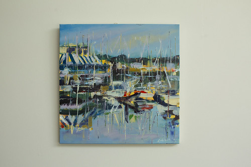 Sarah Gallagher Moorings, Howth  Oil on Canvas SOLD