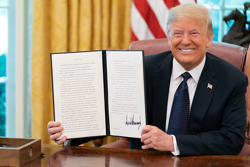 President Trump Signs an Executive Order by The White House, on Flickr