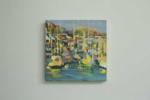 Sarah Gallagher  Masts Oil on canvas 30x30  €395
