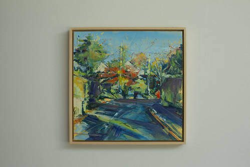 Sarah Gallagher Around The Bend Oil on Canvas 40 x 40cm