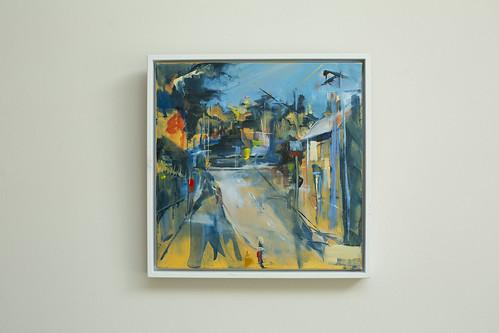 Sarah Gallagher  Shadow Oil on canvas 30x30  €395