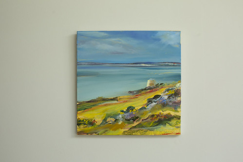 Sarah Gallagher  Martello Oil on canvas 40x40  €495