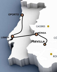 Al Andalus Luxury Train Lusitanian Route map