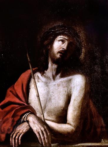 IMG_6473 Guercino (Giovanni Barbieri) 1591-1666 Bologna  Christ de douleur   (atelier)  Christ of pain (workshop) Parma Pinacothèque Stuard
