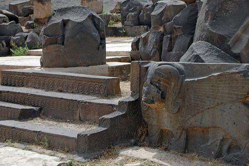 Tell Ain Dara Temple c.1300 Early Iron Age Syro-Hittite Entry Portico Steps & Sphinx (1e)