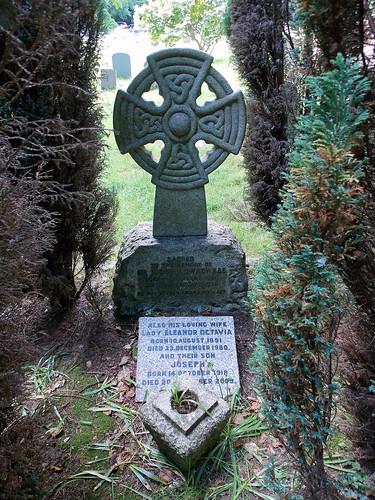 Church of the Holy Innocents, High Beach, Essex, England - churchyard Sir Joseph Lowrey grave