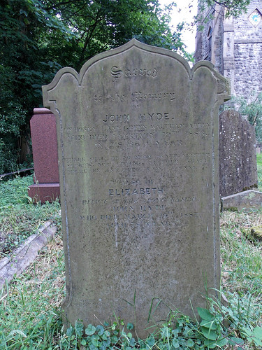 Church of the Holy Innocents, High Beach, Essex, England - churchyard John & Elizabeth Hyde gravestone