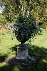 Photo of Feeringbury Manor lawn urn planter, Feering Essex England 2