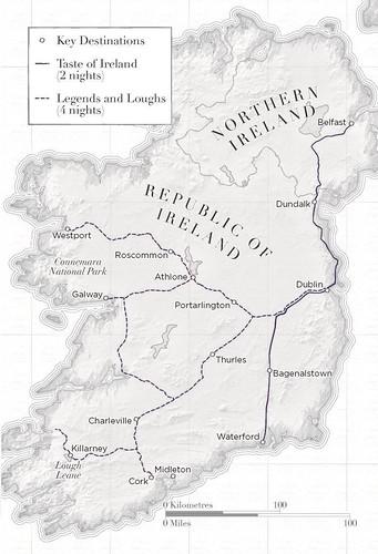 Belmond Grand Hibernian Route map