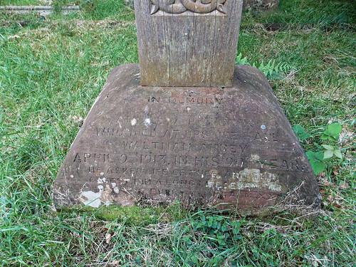 Church of the Holy Innocents, High Beach, Essex, England - churchyard Andrew Roddick monument base