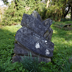Photo of Benjamin Moran grave marker Church of St Mary and St Christopher, Panfield