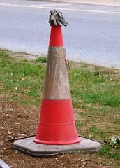 Photo of Traffic Cone Bar Hill July 2020 B