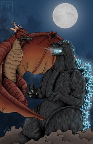 Godzilla vs Fire Rodan