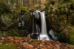 """Der """"große"""" Höllbach-Wasserfall, Langzeitbelichtung II"""