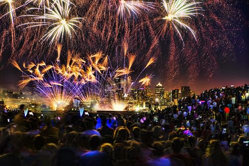 Fireworks over Lake Union, 2015