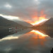 Winter sunrise reflection