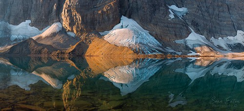 Floe Lake Snowpatch Reflections