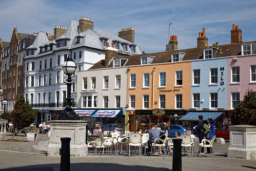 Al fresco eating at The Parade in Margate Kent England