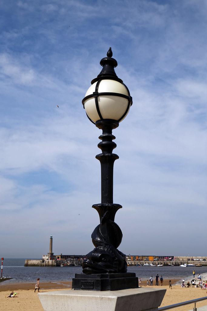 Beachside lamp standard Margate Kent England
