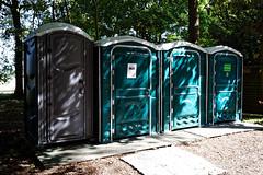 Photo of Portable toilets at Easton Lodge Gardens, Little Easton, Essex, England