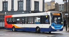 Photo of Stagecoach Merseyside & South Lancashire (Glenvale Transport) 27903 SN63NAO arrives in Skipton Bus Station with a terminating 280 'Ribble Valley' service from Preston.