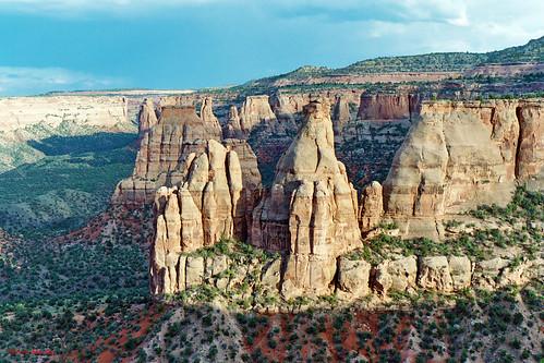 Rock Formations from Book Cliff View, Colorado National Monument