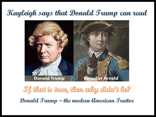 Donald J. Trump -- The Modern American Traitor, From FlickrPhotos