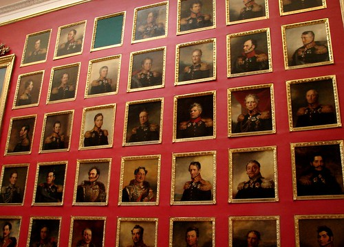 Russian Portraits in the Portrait Room, Hermitage Museum, St. Petersburg, Russia