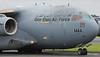 A7-MAA Qatar Emiri Air Force LHOB242 C-17A Globemaster departing Prestwick for Charleston AFB, South Carolina. 4/7/20.