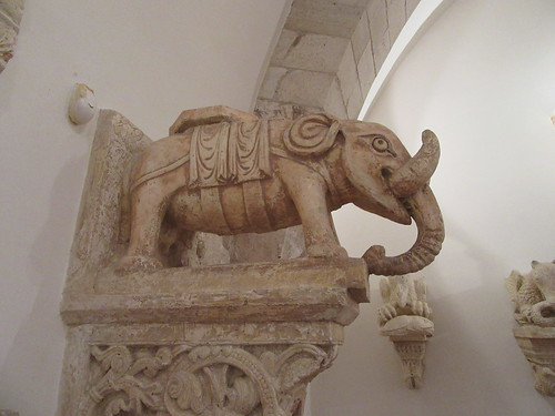 Plaster cast of the elephant statue on Bari Cathedral