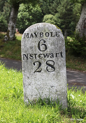 Photo of An Ayrshire milestone on the Crosshill to Newton Stewart hill road,South Ayrshire. 2/7/20