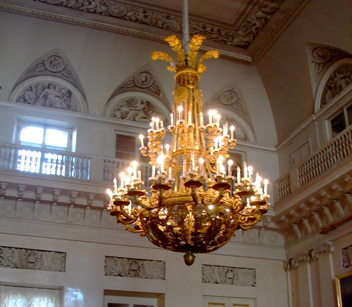 One of many Exquisite Light Fixtures, Hermitage Museum, St. Petersburg, Russia