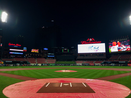 Behind home plate - Busch Stadium
