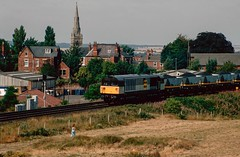 Photo of 58 021 eastbound at Worksop. 1990.