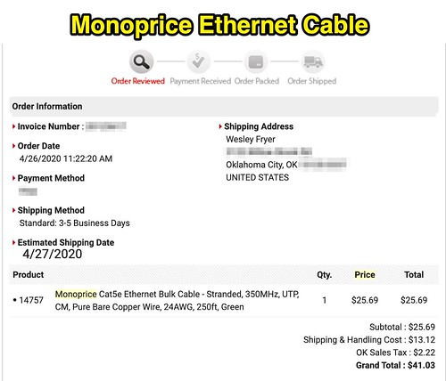 Monoprice CAT-5E Ethernet Cable by Wesley Fryer, on Flickr